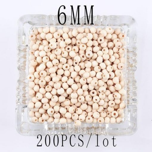 Orchid Macrame Bead 6mm 40mm
